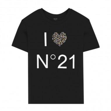 N.21 Kids T-Shirt Logo Love Bambino - N.21 Kids n214aa-0n900-n21kids20
