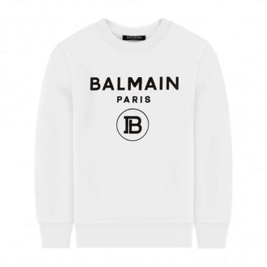 Balmain Kids Basic Sweatshirt - Balmain Kids 6n4670-100ne-balmainkids30