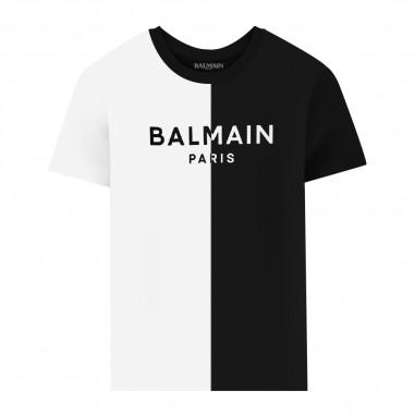Balmain Kids Bicolor T-Shirt - Balmain Kids 6n8091-balmainkids30