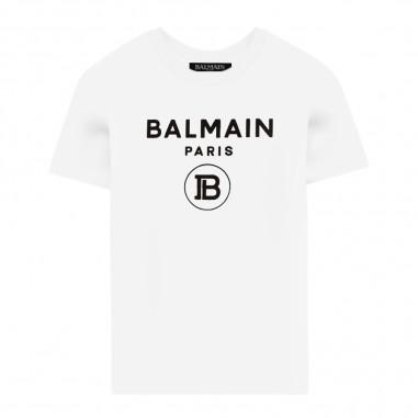 Balmain Kids T-Shirt Logo - Balmain Kids 6n8561-100ne-balmainkids30
