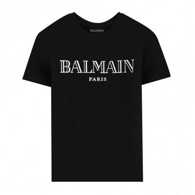 Balmain Kids T-Shirt Logo Icona - Balmain Kids 6n8551-930ag-balmainkids30