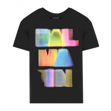 Balmain Kids T-Shirt Scritta Colorata - Balmain Kids 6n8601-balmainkids30