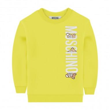 Moschino Kids Baby White Sweatshirt - Moschino Kids myf02plda00giallo-moschinokids20