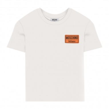 Moschino Kids White Basic T-Shirt - Moschino Kids hum02plaa01-moschinokids20