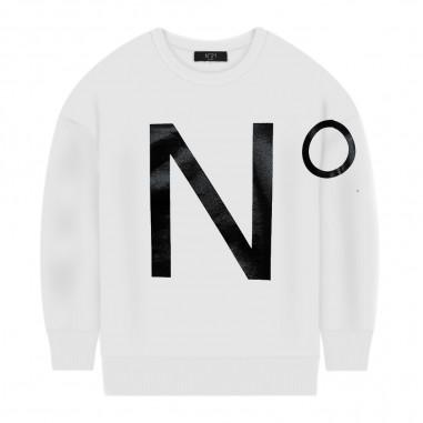 N.21 Kids White Logo Sweatshirt - N.21 Kids n214ej-n21kids30
