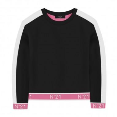 N.21 Kids Girls Black Sweatshirt - N.21 Kids n214e7-n21kids30