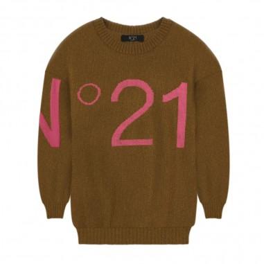 N.21 Kids Brown Over Sweater - N.21 Kids n214c9-n21kids30