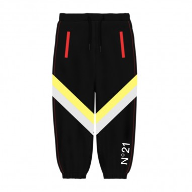 N.21 Kids Pantalone Jogging Nero - N.21 Kids n214ed-n21kids30
