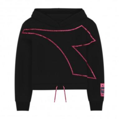 Diadora Girls Black Sweatshirt - Diadora 26287-110-diadora30