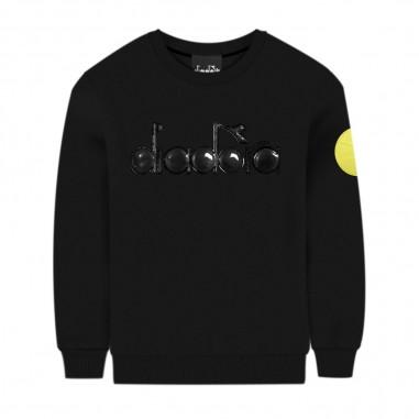 Diadora Boys Black Sweatshirt - Diadora 25464-110-diadora30