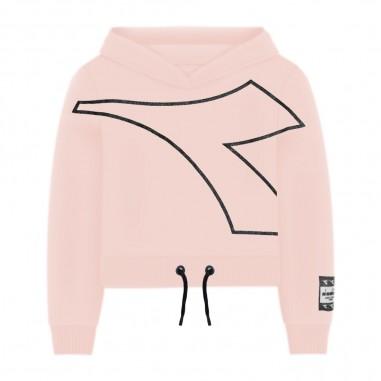 Diadora Girls Pink Sweatshirt - Diadora 26287-042-diadora30