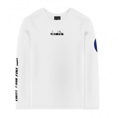 Diadora Boys White Long Sleeve T-Shirt - Diadora 25466-001-diadora30
