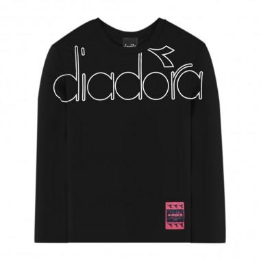 Diadora T-Shirt Nera Jersey - Diadora 26288-110-diadora30