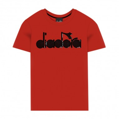 Diadora Boys Red Long Sleeve T-Shirt - Diadora 25459-040-diadora30