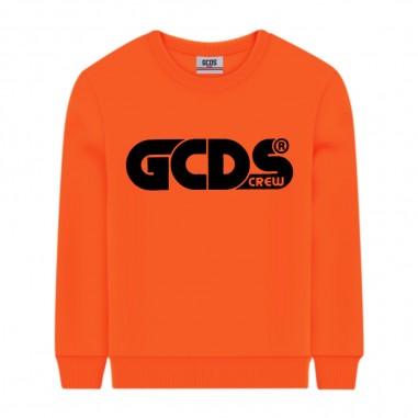 GCDS mini Felpa Arancione Fluo - GCDS mini 25775-176-gcdsmini30
