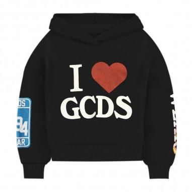 GCDS mini Black Cropped Sweatshirt - GCDS mini 26178-gcdsmini30