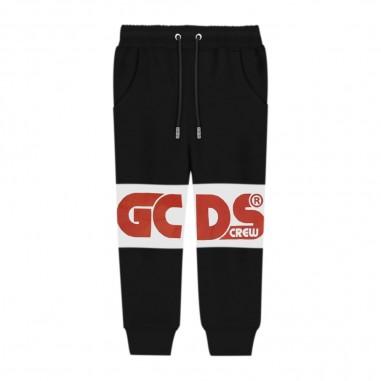 GCDS mini Black Joggers - GCDS mini 25765-gcdsmini30
