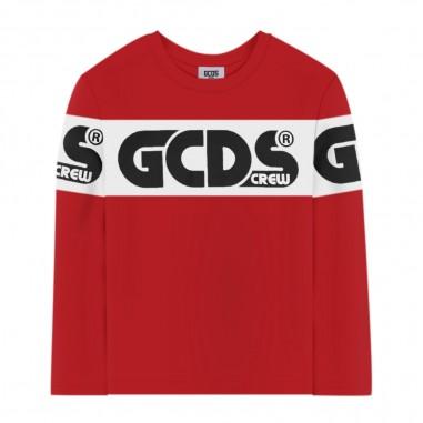 GCDS mini Red Long Sleeve T-Shirt - GCDS mini 25764-040-gcdsmini30