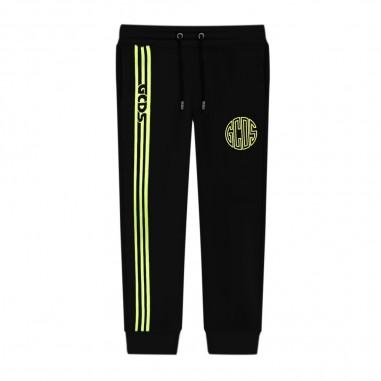 GCDS mini Black Sweatpants - GCDS mini 25894-gcdsmini30