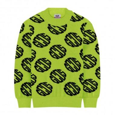 GCDS mini Boys Fluo Yellow Sweater - GCDS mini 25890-gcdsmini30