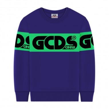 GCDS mini Purple Sweatshirt - GCDS mini 25763-070-gcdsmini30