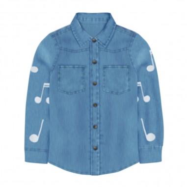 Stella McCartney Kids Musical Notes Denim Shirt - Stella McCartney Kids 601428spk67-stellamccartneykids30