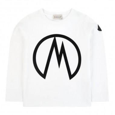 Moncler White Long Sleeve T-Shirt - Moncler 8d70620-83092-001-moncler30