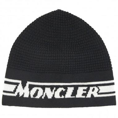 Moncler Cuffia Nera Logo - Moncler 9z70420-a9366-999-moncler30