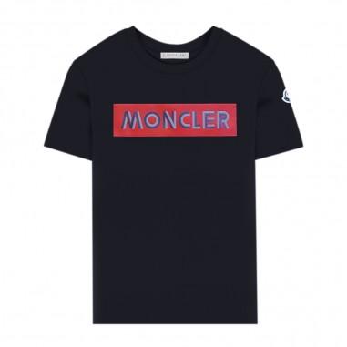 Moncler T-Shirt Blu - Moncler 8c72720-83092-778-moncler30