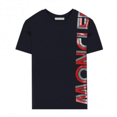 Moncler T-Shirt Logo Blu - Moncler 8c72620-83092-778-moncler30