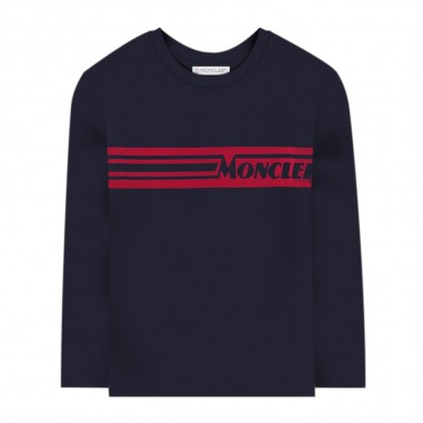 Moncler Blue Long Sleeve T-Shirt - Moncler 8d70420-83092-778-moncler30