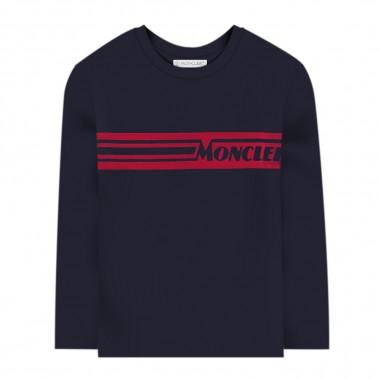 Moncler T-Shirt Manica Lunga Blu - Moncler 8d70420-83092-778-moncler30