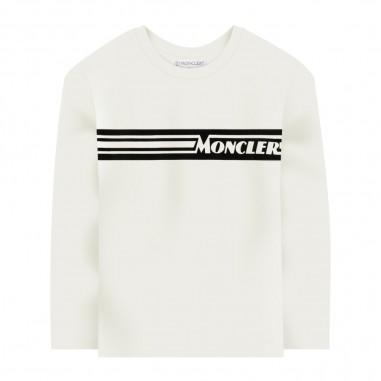 Moncler Cream Long Sleeve T-Shirt - Moncler 8d70420-83092-034-moncler30