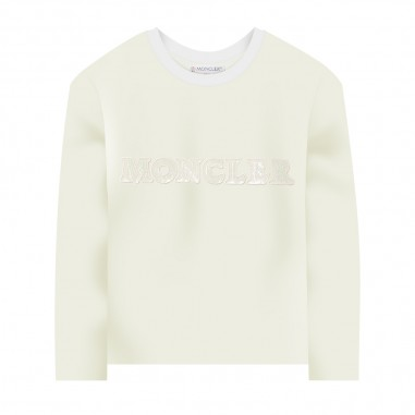 Moncler Cream Long Sleeve T-Shirt - Moncler 8d71410-87275-034-moncler30