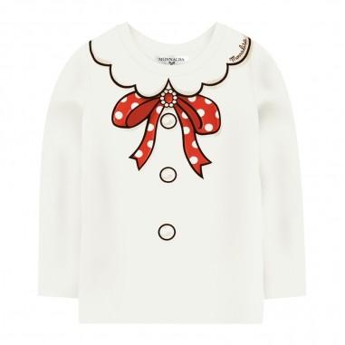 Monnalisa Cream Jersey T-Shirt - Monnalisa 116632pf-monnalisa30