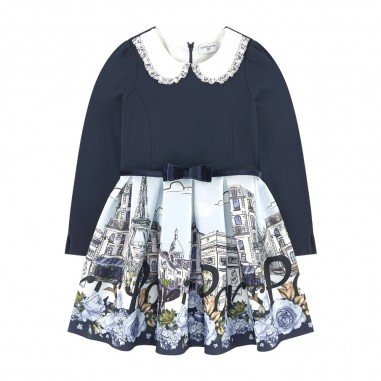 Monnalisa Cream Dress - Monnalisa 116904-monnalisa30