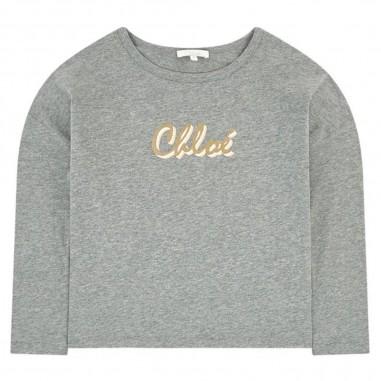 Chloé Kids Grey T-Shirt - Chloé Kids c15b33-chloekids30