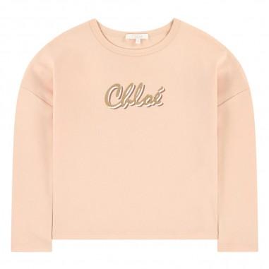 Chloé Kids Pink Logo T-Shirt - Chloé Kids c15b35-chloekids30