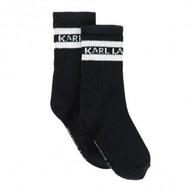 Karl Lagerfeld Kids Black Socks - Karl Lagerfeld Kids z20053-nero-karllagerfeldkids30