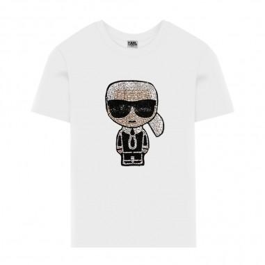 Karl Lagerfeld Kids T-Shirt Bianca Logo - Karl Lagerfeld Kids z15253-bianco-karllagerfeldkids30