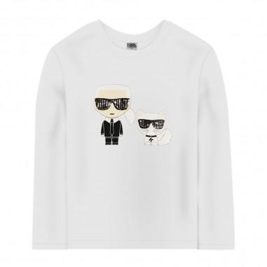 Karl Lagerfeld Kids White Long Sleeve T-Shirt - Karl Lagerfeld Kids z15287-karllagerfeldkids30