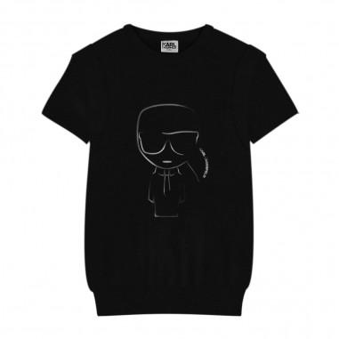 Karl Lagerfeld Kids Black Logo T-Shirt - Karl Lagerfeld Kids z25246-nero-karllagerfeldkids30