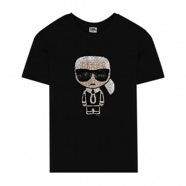 Karl Lagerfeld Kids Black Logo T-Shirt - Karl Lagerfeld Kids z15253-nero-karllagerfeldkids30
