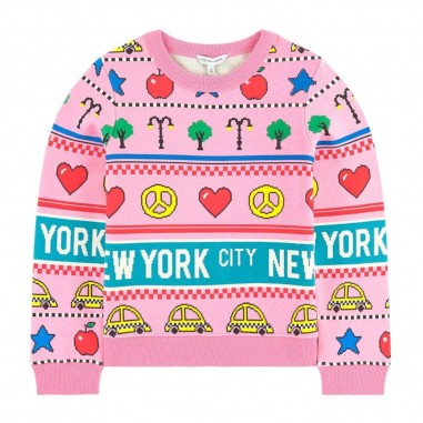 Little Marc Jacobs Pink Patterned Sweatshirt - Little Marc Jacobs w15522-littlemarcjacobs30