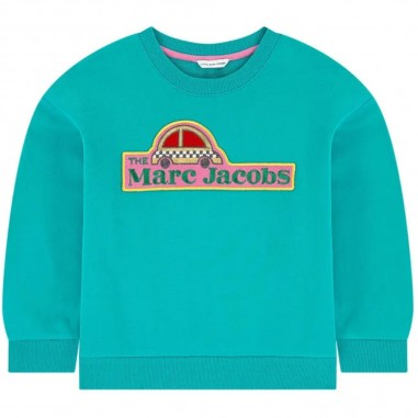 Little Marc Jacobs Turquoise Sweatshirt - Little Marc Jacobs w15527-littlemarcjacobs30