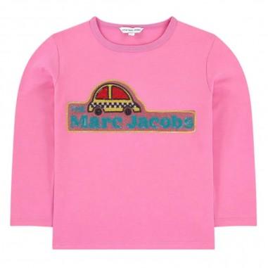 Little Marc Jacobs T-Shirt Logo Rosa - Little Marc Jacobs w15531-littlemarcjacobs30