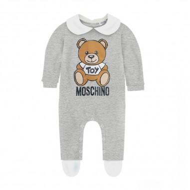 Moschino Kids Tutina Grigia Neonati - Moschino mut01w-lda14-grigio-moschino30