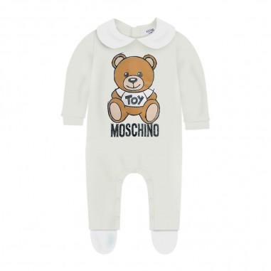 Moschino Kids Cream Baby Suit - Moschino mut01w-lda14-cloud-moschino30
