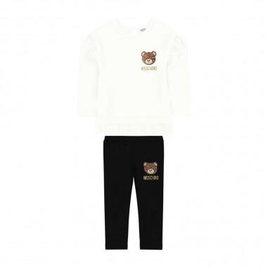 Moschino Kids T-Shirt & Leggings Baby Set - Moschino mdk01n-lba12-moschino30