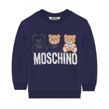 Moschino Kids Blue Baby Sweatshirt - Moschino mpf03e-lda14-blu-moschino30